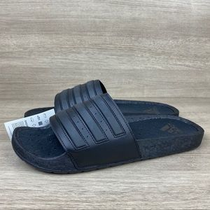 Adidas Adilette Boost Triple Black Sandals Slide